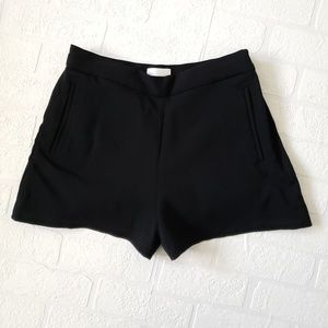 Aritzia Wilfred Katraine Black High Waist Shorts